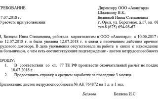 Не выплатили зарплату при увольнении: образец составления искового заявления