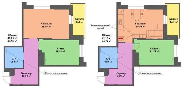 Перенос кухни в квартире: согласование, запрет на перенос в другую комнату