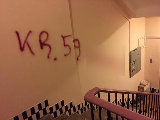Коллекторы расписали стены в подъезде где я живу